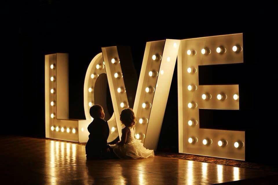 Light Up Letters For Hire Wedding Reception Piv